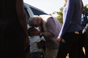 Prof Yunus visitng Uganda -Tom Woollard